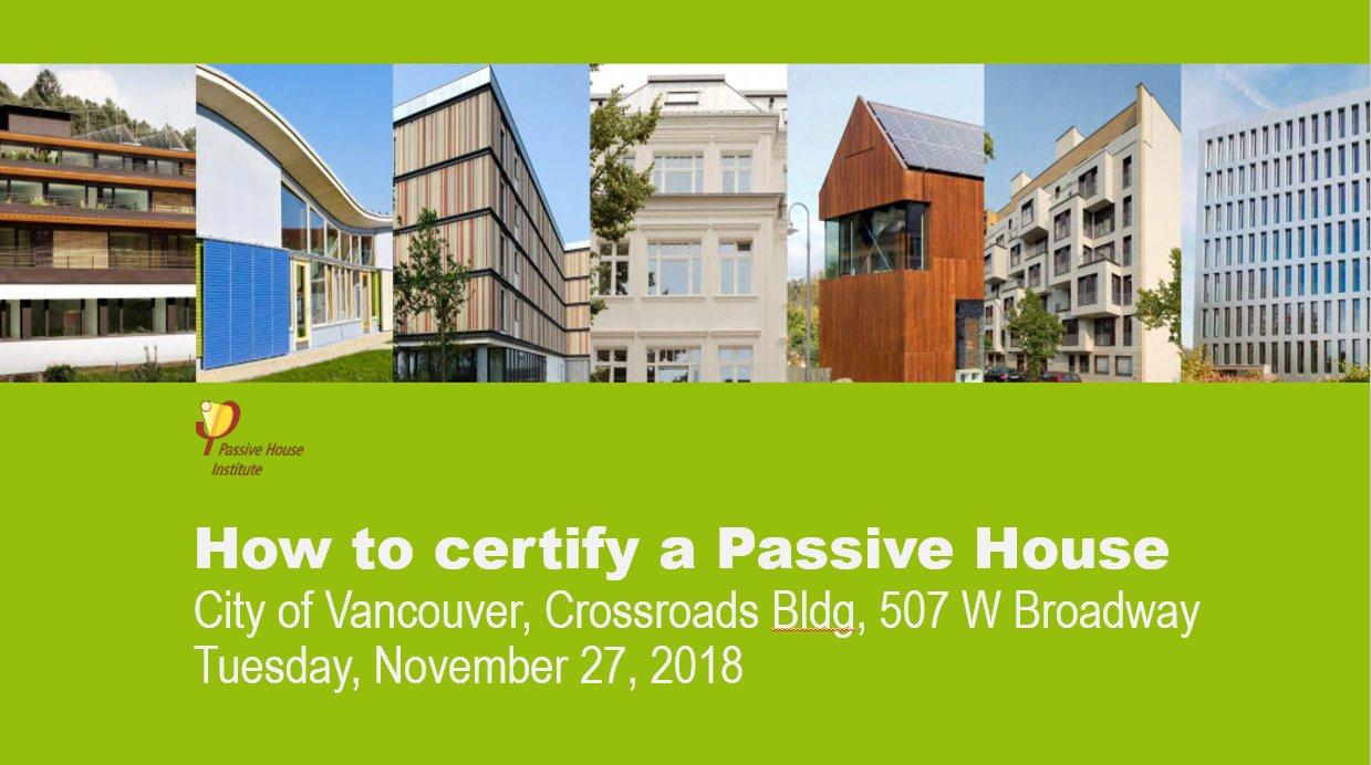 Passive House Building Certification Course Zebx